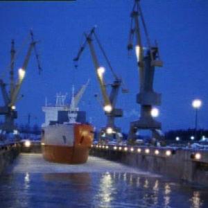 Vuosaaren telakka vuonna 1987.