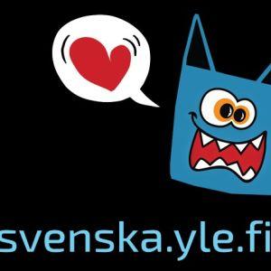 Hajbos logo och webbadress svenska.yle.fi/hajbo