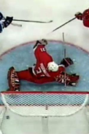 Suomen ratkaisumaali jääkiekon MM-kisojen Venäjä-otteluissa (1999).