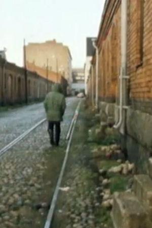 En person som går