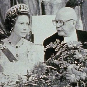 Kuningatar Elisabet ja Urho Kekkonen