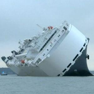 Fraktfartyg körde avsiktligt på grund
