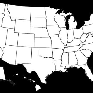 Karta av USA