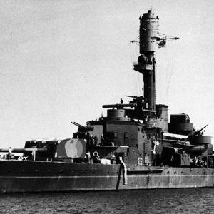 Pansarfartyget Väinämöinen, SA-bild, 1940-talet