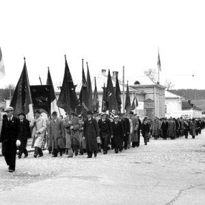 Första maj-marsch i borgå, 1950