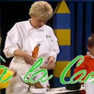 Barn lär sig kocka raw food, 1990