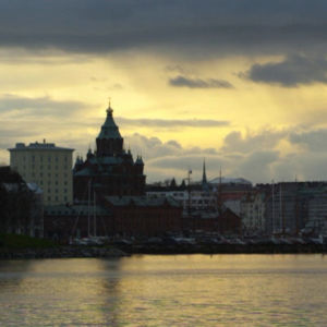 Uspenskin katedraali Kalasatamasta päin kuvattuna