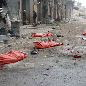 Förödelsen i Aleppo efter syriska regimens bombningar.
