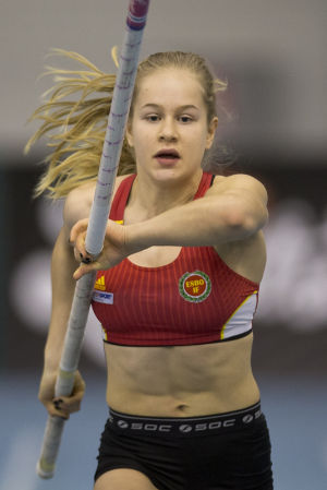Saga Andersson, inomhus-VM 2016.