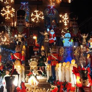 Julprydnader i Dyker Heights, Brooklyn