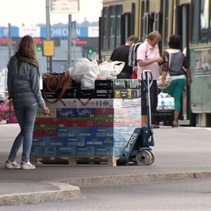 Alkoholilasti Helsingin satamassa
