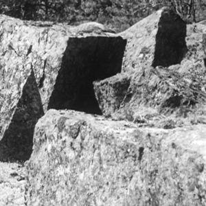 Rakennuskiviä Haapasaaressa vuonna 1964.