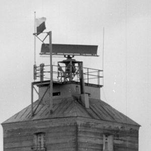 tahystys- ja merkinantotorni Puokki Haapasaaressa vuonna 1964.