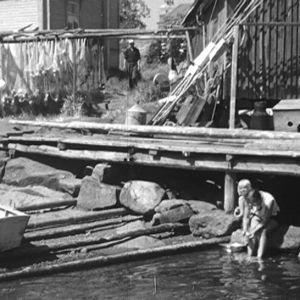Ihmisiä Haapasaarella vuonna 1964
