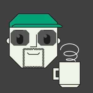Nuorille nyt! -grafiikka, jossa kasvot ja höyryävä kuppi.