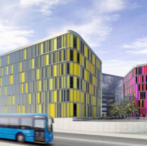 Arkitektbyråns vision av jättecampuset i Kvarnbäcken.