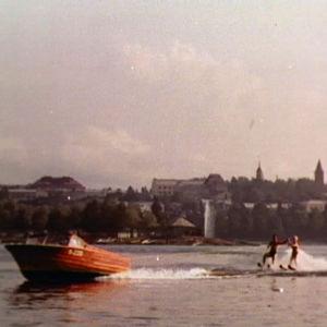 Vesihiihtoa Saimaalla Lappeenrannan edustalla 1961