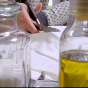 Camilla klipper tygbitar