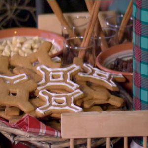 Pepparkakor formade som Strömsstjärnan
