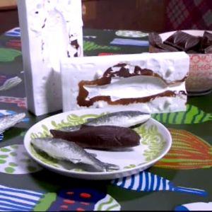 Silikonformar för att gjuta fiskar i choklad