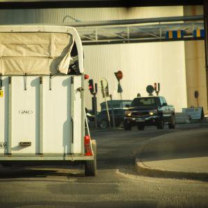 Hevoskuljetustraileri liikenteessä