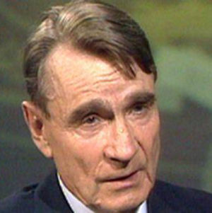 Presidentti Mauno Koivisto haastattelussa vuonna 1990.