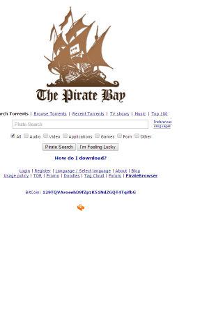 Fildelningssidan The Pirate Bays logo