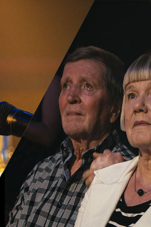 Satu herkistyy vanhempiensa kanssa SuomiLOVEssa, kun Johanna Iivanainen esittää Myrskyn jälkeen -klassikon.