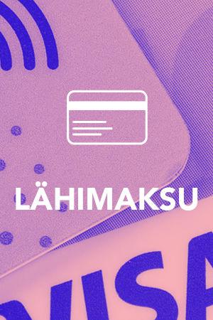 Digitreenit artikkelin pääkuva tekstillä Lähimaksu, kuvassa pankkikortteja, joissa näkyy lähimaksutunnus
