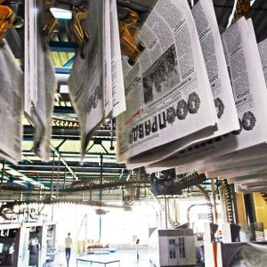 Tidningen Komsomolskaja pravda trycks utanför Moskva.