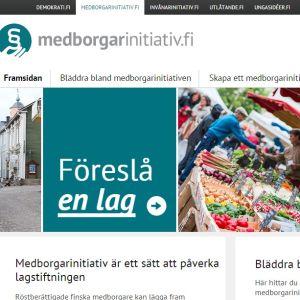 Medborgarinitiativ.fi (printscreen)