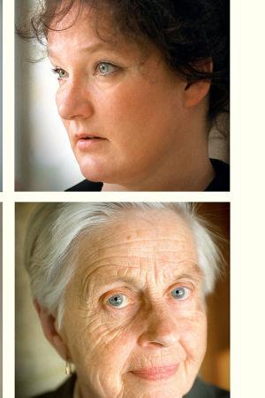 Sanna Tahvanainen, Monika Fagerholm, Birgitta Boucht och Barbara Winckelmann i serien Kvinnoåldrar, 2002