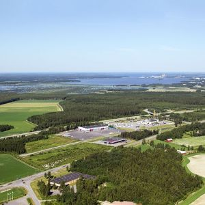 Flygbild över Risöområdet i Vasa