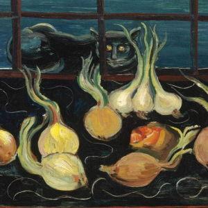Boris Grigoriev: Still Life with Cat and Onions