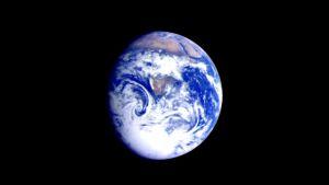 Jorden fotograferad från rymden.