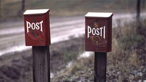 Postlådor på landsbygden