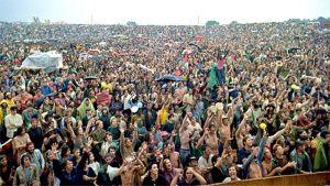 Enorm publik i Woodstock 1969