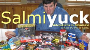 Amerikanska bloggaren salmiyuck testar finsk salmiak. Han hatar det.