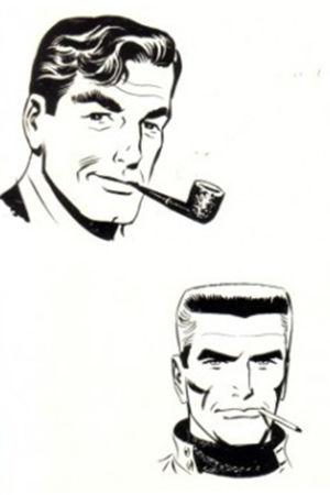 Steve Roper med pipa och Mike Nomad med cigarett i mungipan