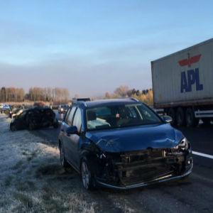 Trafikolycka  i Lempäälä.