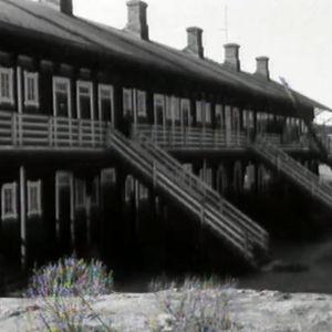 Bild på en barack gjord för arbetare