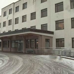 Raumo kretssjukhus i snöslask