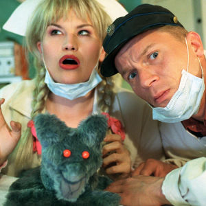 Ansa ja Oiva Nukkesairaalassa, ohjelmasta Veturi: Ansan ja Oivan tv-asema (1999)