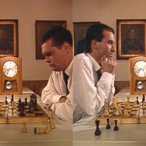 Sketch om schackspel i Morjens, 1992