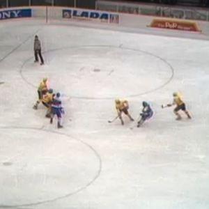 Suomi - Romania Wienin MM-kisoissa 1977.