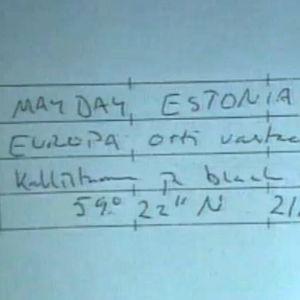 Muistiinpanoja Estonian hätäkutsusta Ylen uutissa 13.10.1994.