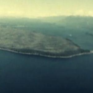 Ilmakuva Malcom Islandista eli Sointulasta ohjelmassa SOINTULA - IHANNEYHDYSKUNTA (1976)
