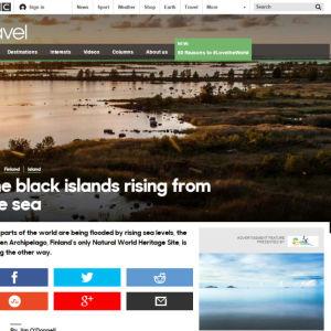 Brittiska BBC uppmärksammar Kvarkens världsarv.
