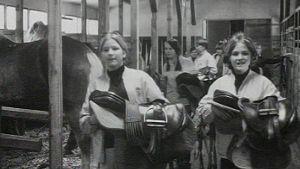Tytöt ratsastustalleilla