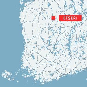 Karta som visar var Etseri är beläget.